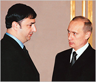 Lev Leviev and Vladimir Putin