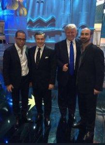 Rotem Rosen, Aras Agalarov, Donald Trump & Alex Sapir in Moscow