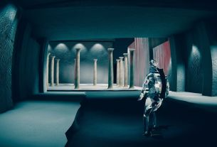 What did you play last week? A glass man skates down a brutalist street 4