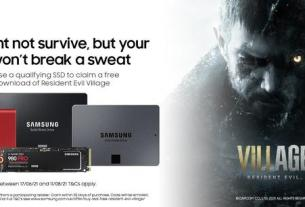 Get Resident Evil Village free with a Samsung SSD 4