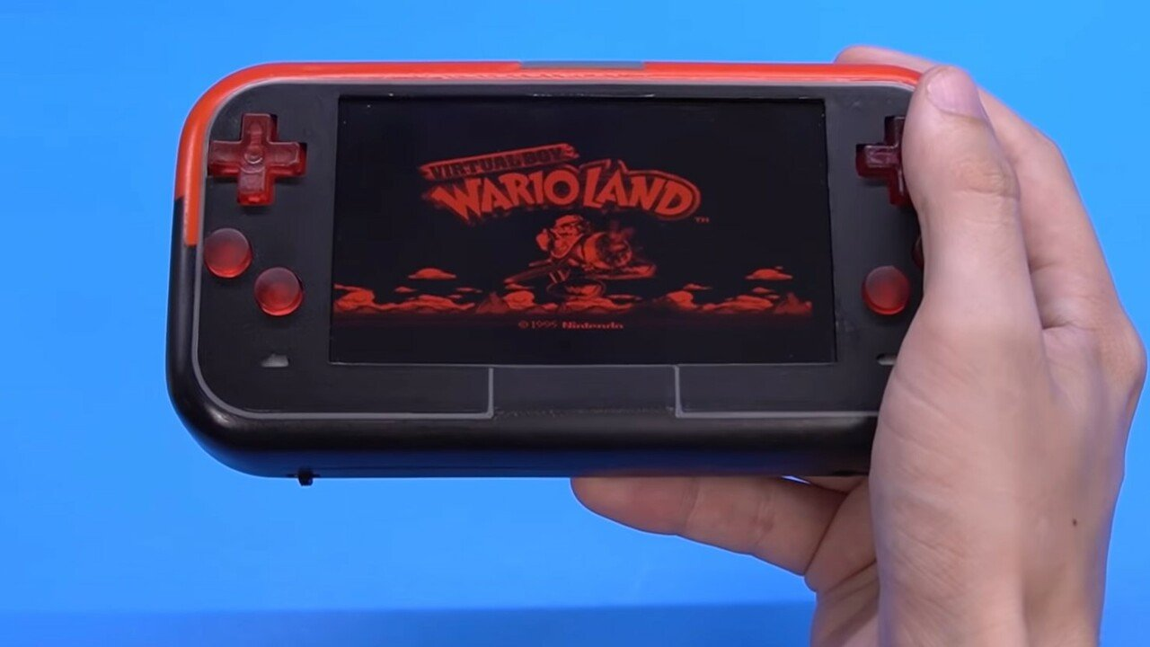 Random: Yes, Someone's Made A Handheld Virtual Boy With Light Up Buttons 1