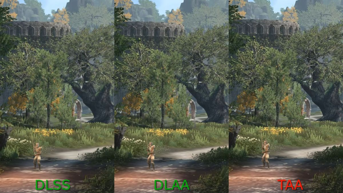 Comparison video shows Nvidia's new DLAA tech alongside TAA and DLSS in Elder Scrolls Online TAA, DLSS, and DLAA compared 1