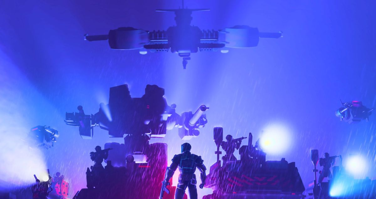 Tactical roguelike Synthetik 2 will be out in November Robots light up a rainy night 1