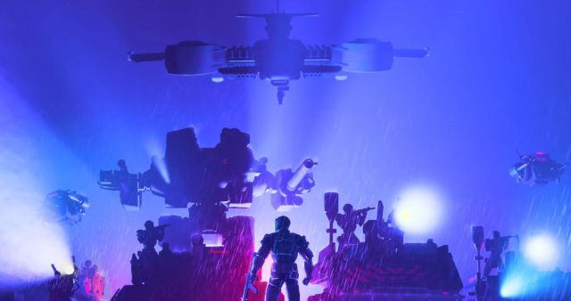 Tactical roguelike Synthetik 2 will be out in November Robots light up a rainy night 2