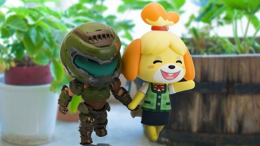 Random: Doomguy And Isabelle Are Together At Last In Smash Bros. 1