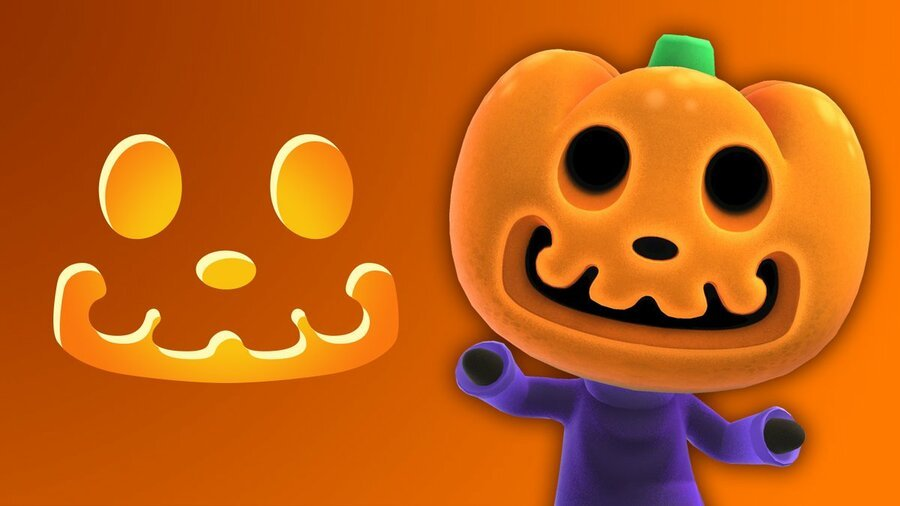 Want A Pumpkin Like Animal Crossing's Jack? Here's A Free Stencil To Use This Halloween 1