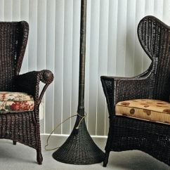 Antique Wicker Chairs Colored Adirondack Thatwickerguy Furniture Faux Finish American Dark