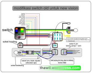 Cara pasang saklar Old Vixion pada New Vixion – Thawil's Blog