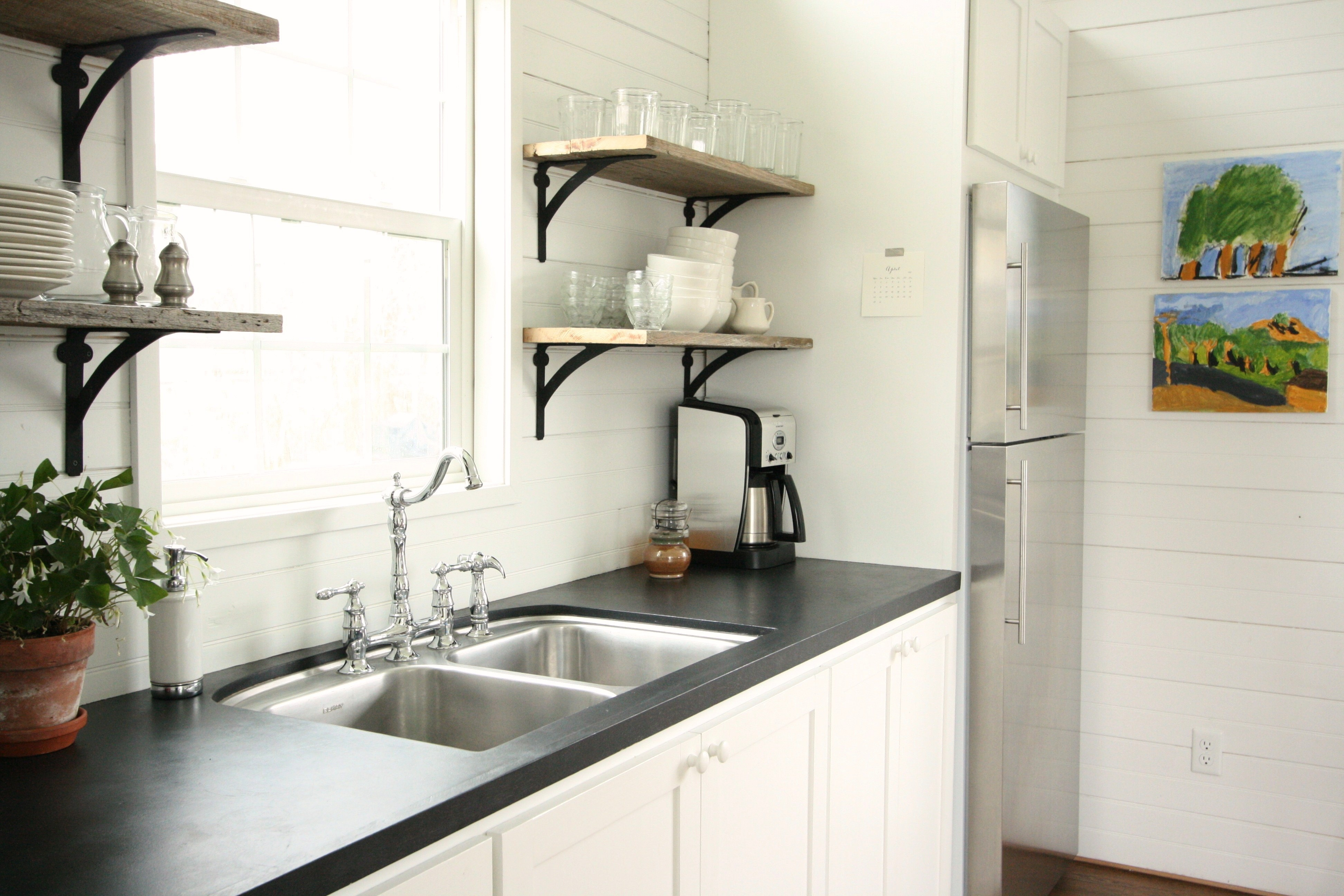 open kitchen shelving  Thayer  Reed