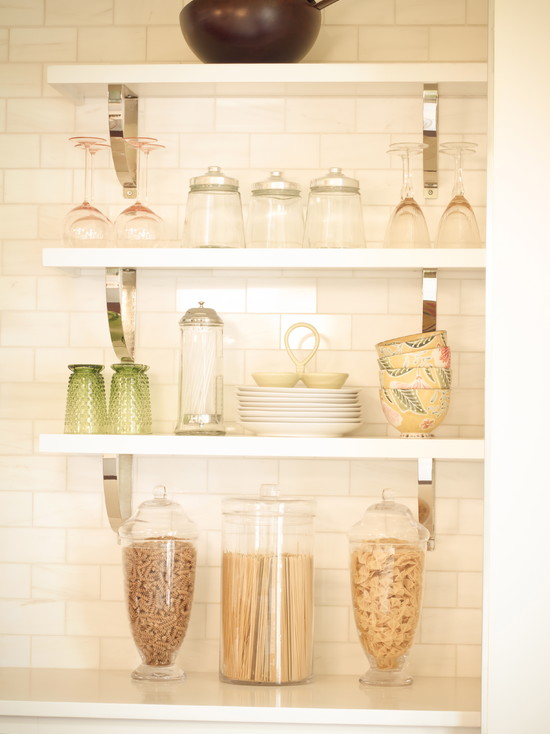 metal open shelving  Thayer  Reed