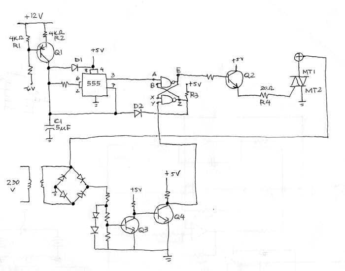 Thyristor firing circuit