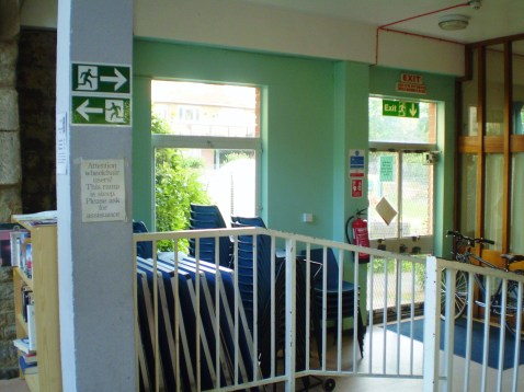 The green hallway