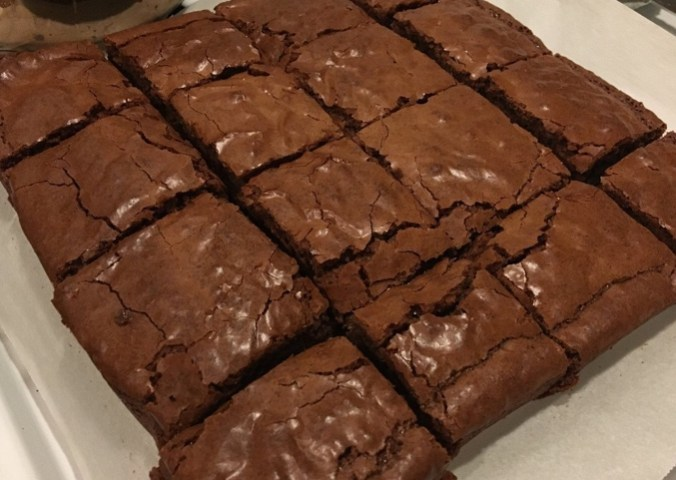 A batch of freshly made biobomb pot brownies.