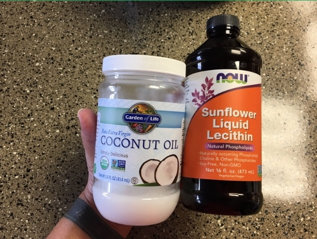Coconut oil & sunflower lecithin- two invaluable tools for the infused oil in your pot brownies