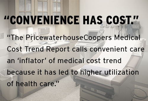 'Convenience has a cost,' PwC medical trend report says