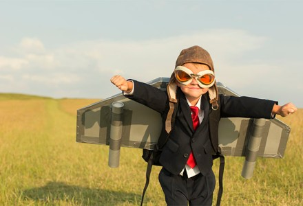 super kid in suit