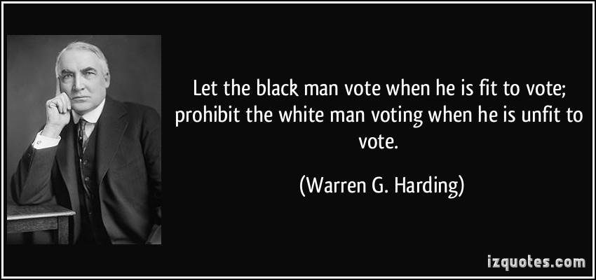 October 26, 1921:  Warren G. Harding Speaks About Race in Birmingham, Alabama