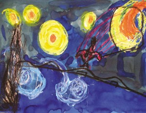 """Maximus Oberto """"Starry Starry Night and Spiderman"""""""