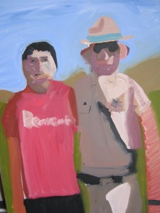 Kevin painted this of Deputy Powers and him when he was 14. Kevin likes the Sheriff's.