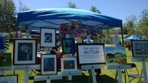 Channel Islands Art of Autism at the Ventura Autism Society Aut2run Event