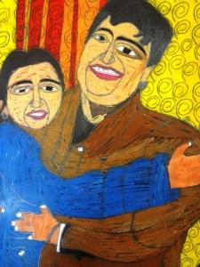 Amrit with sister Arpit (self-portrait)