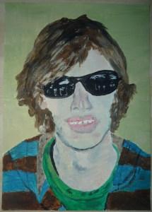 Mikey Allcock self-portrait