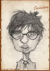 Alexandre Self-portrait caricature