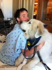 Jason with Healing Angel Dog