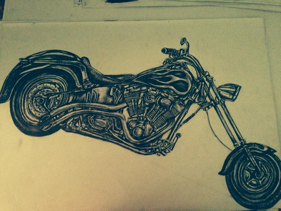 "Kirtanraw Bandiloo ""Motorcycle Sketch"""