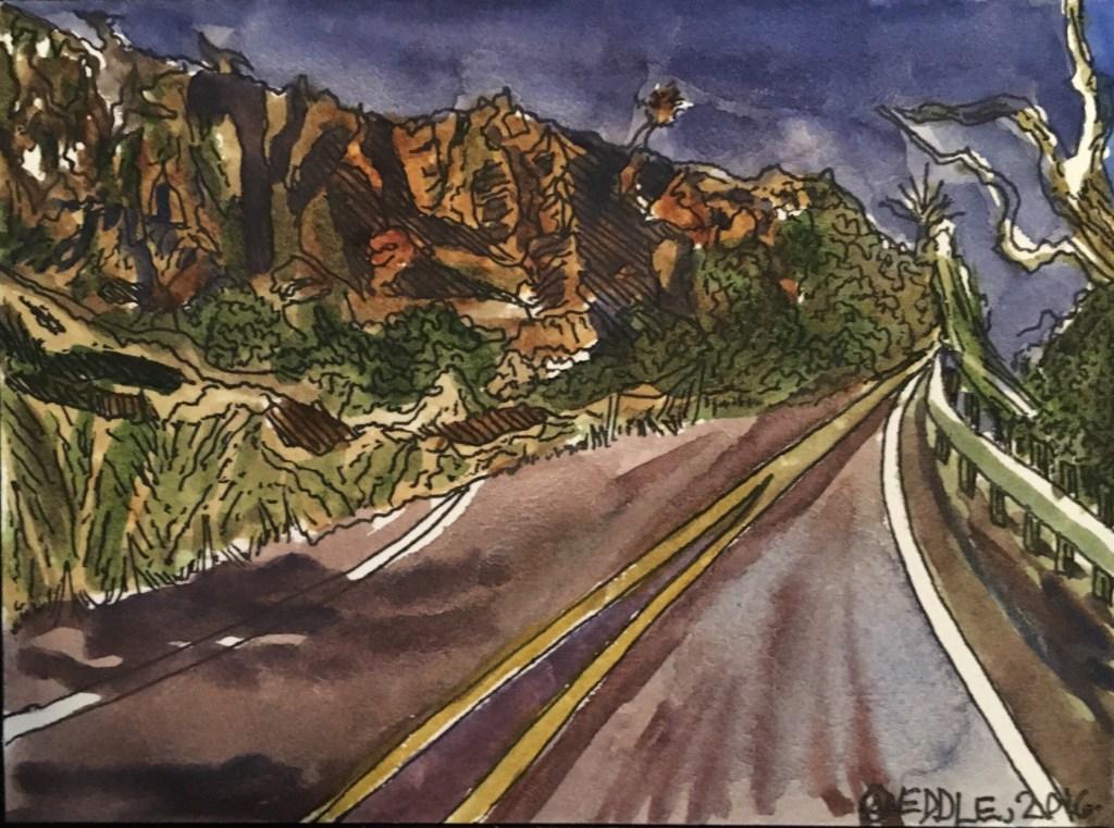 """Angela Weddle """"Davis Mountain at Dusk"""""""