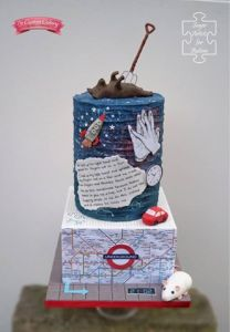 Melanie Williams from the U.K. created this cake inspired by the Curious Incident of the Dog at Night