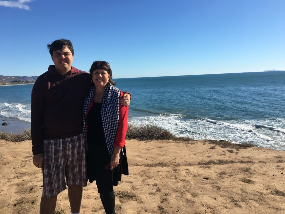 Kevin Hosseini with mom Debra Muzikar