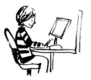Me on the computer