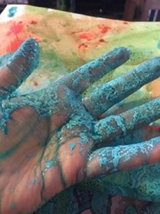 "Kimberly Gerry-Tucker ""Blue Hand"""
