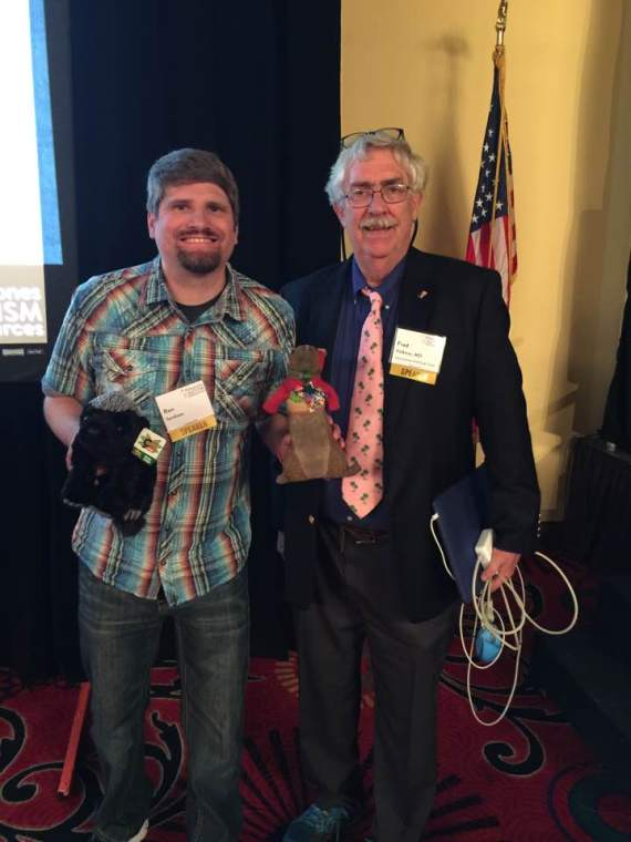 Ron Sandison with Dr. Fred Volkmar