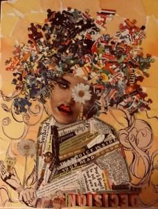 Kimberly Tucker Collage Lady