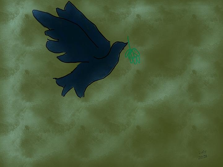 """Luis Tirado """"Peace Dove"""""""