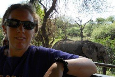 Katie Oswald and Elephant