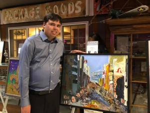 Kevin and his painting