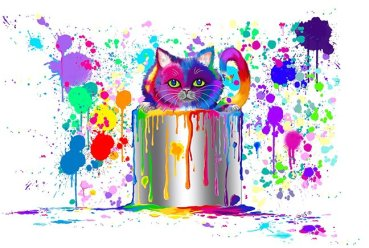 "Nick Gustafson ""Paint Can Cat"""