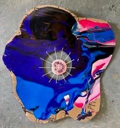 Art by JH, Mandala in Blue, CITE School