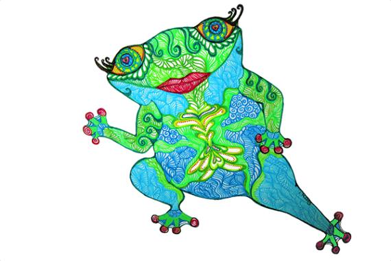Tinamarie Nelmes ChaCha Frog