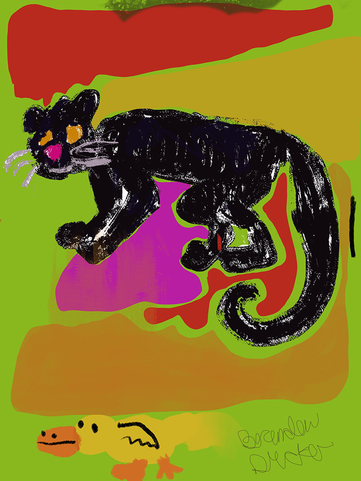 """Brandon Drucker """"Panther and Duck"""""""