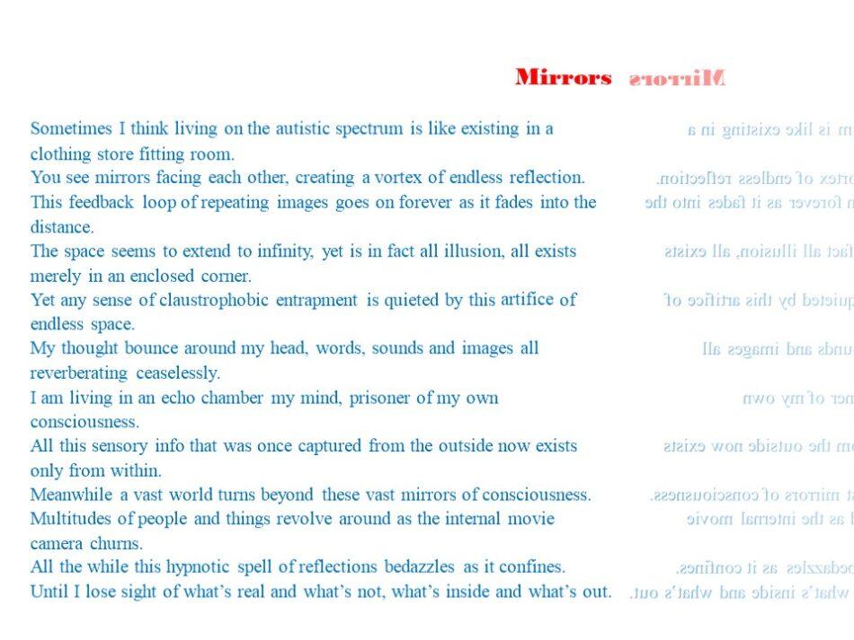 Mirrors Poem