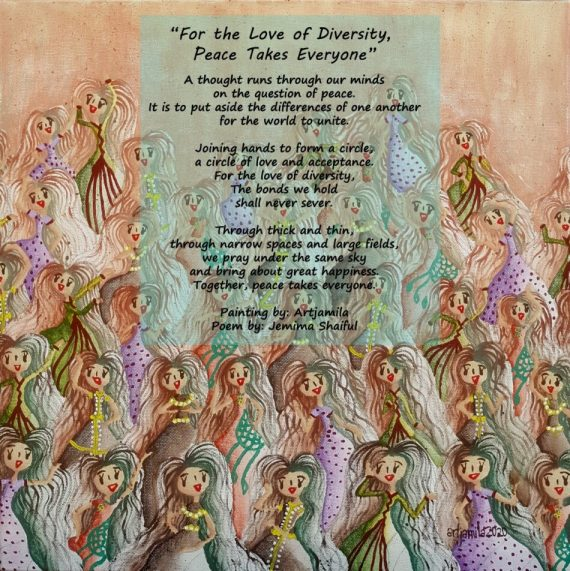 Painting by Artjamila Poem by Jemima Shalful