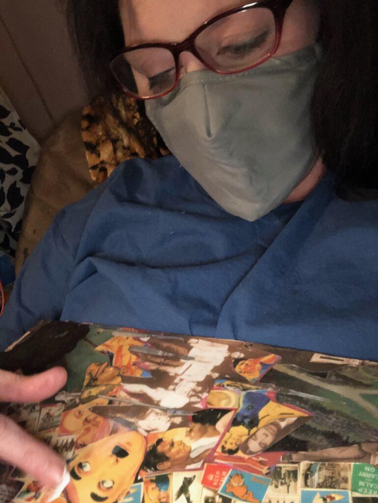 Kimberly Gerry-Tucker creating art