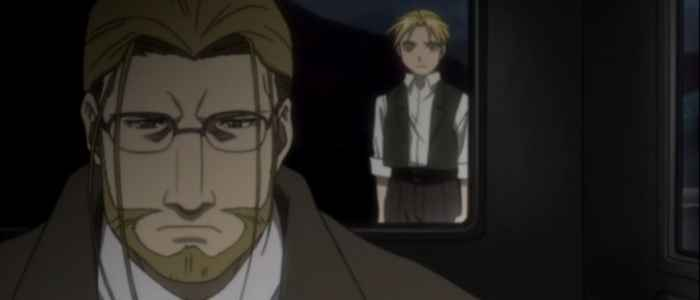 Ed's father, Hoenheim, leaves Edward after confronting him about Equivalent Exchange.