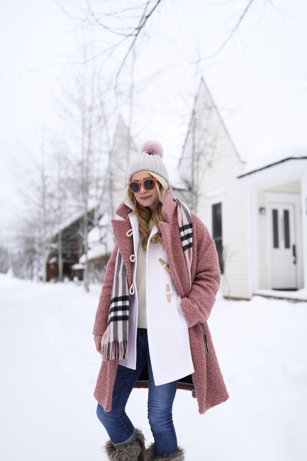 Pink Amp Cream Snow Day