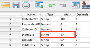 SPSS string variable