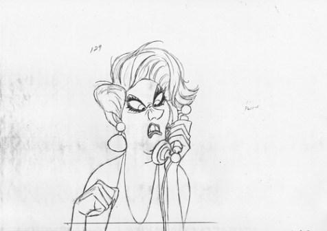Walt-Disney-Sketches-Madame-Medusa-walt-disney-characters-35343975-500-353